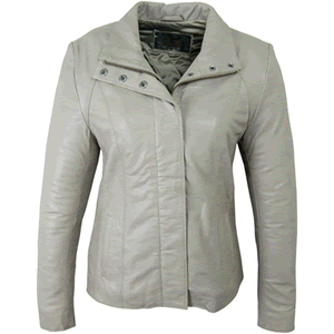 Alexis Taupe Leather Jacket