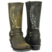 Waxy Leather Bald Eagle Boots