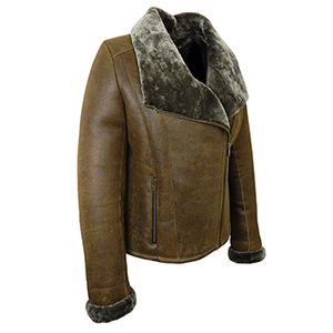 Side view of the Cassie Sheepskin Jacket