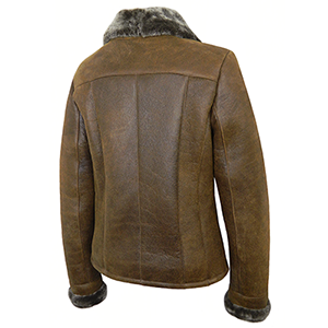 Back view of the Cassie Sheepskin Jacket