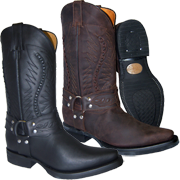 Galveston Western Grinder Leather Boots