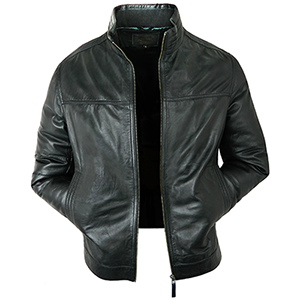 Gareth Black Leather Jacket