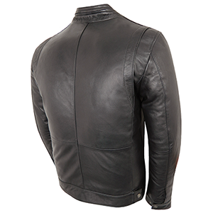 Back View of Gareth Leather Jacket