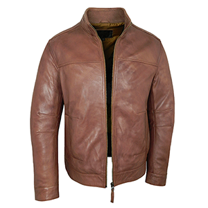 Gareth Leather Jacket - Tan or Brown