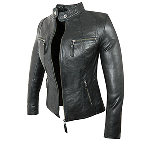 Jodie Black Leather Jacket