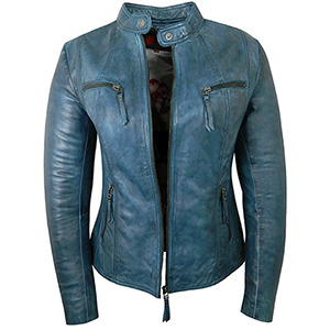 Jodie Blue Leather Jacket