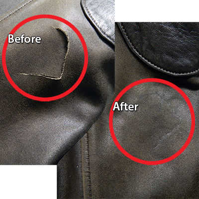 188b9a166f0 Leather Tears Repaired