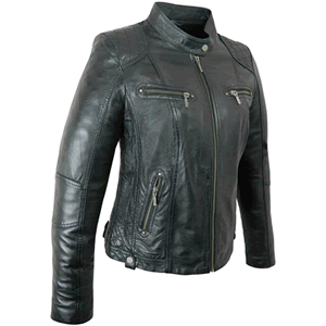 Lisa Black Ladies Leather Jacket
