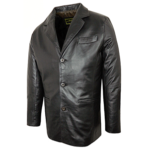 Classic Men's Leather Blazer