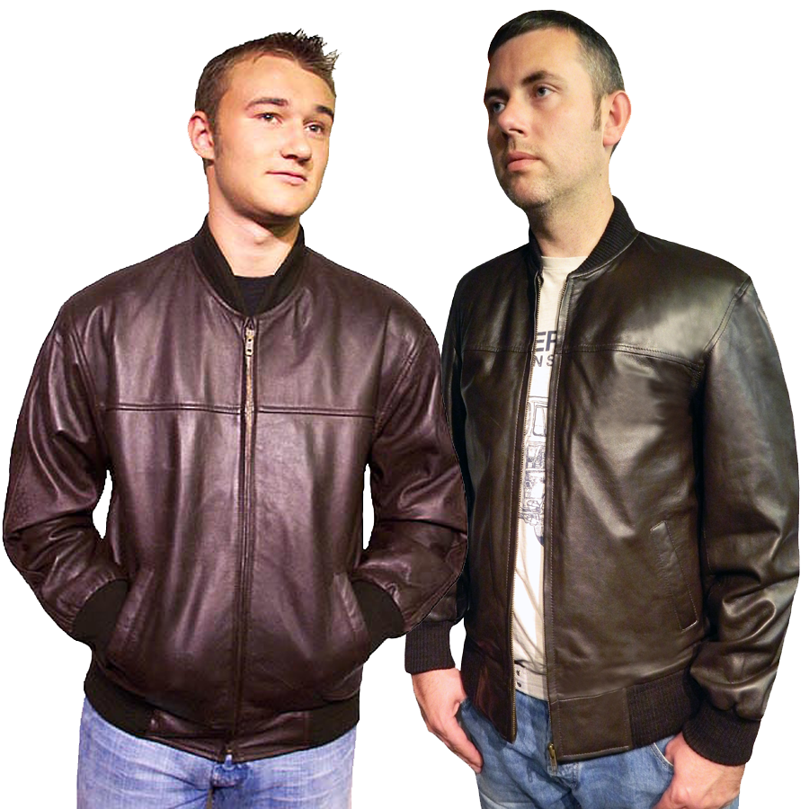 Joel Leather Bomber Jacket