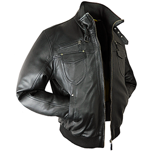 Shaun Black Leather Jacket