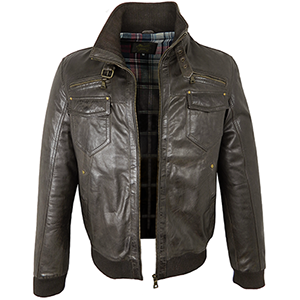 Shaun Brown Leather Jacket