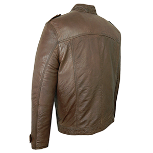 Back View of the Stephen Leather Jacket