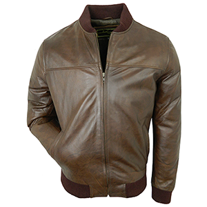 Joel Tan Leather Bomber Jacket