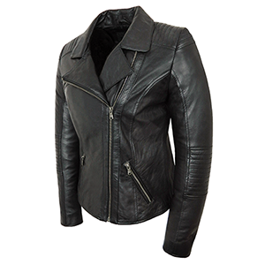 Alternate view of the Tara Leather Jacket