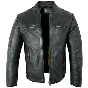 Tom Black Leather Jacket