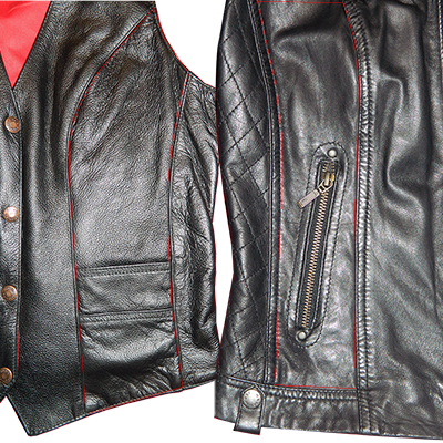 Leather Panels with Zips/Pockets Replaced