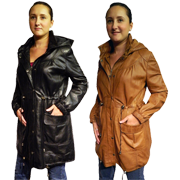Michelle Women's Leather Coat