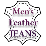 Men's Leather Jeans
